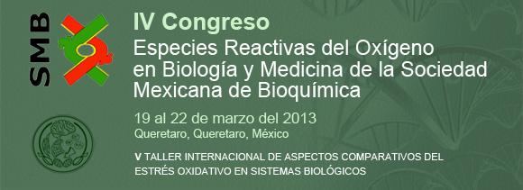 Especies Reactivas del Oxígeno  en Biología y Medicina de la Sociedad  Mexicana de Bioquímica