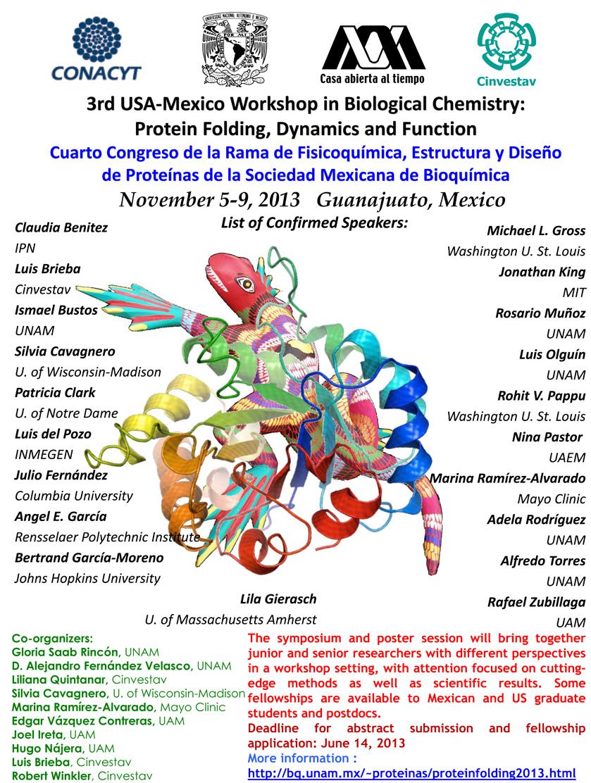Cuarto Congreso de la Rama de Fisicoquímica, Estructura y Diseño de Proteínas