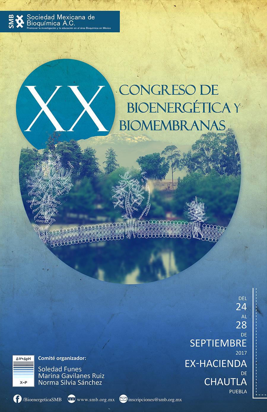 XX Congreso de Bioenergética y Biomembranas