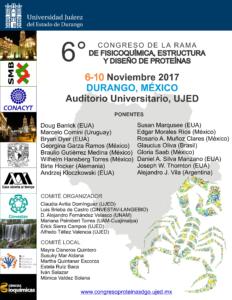 6 Congreso de la Rama de Fisicoquímica, Estructura y Diseño de Proteinas
