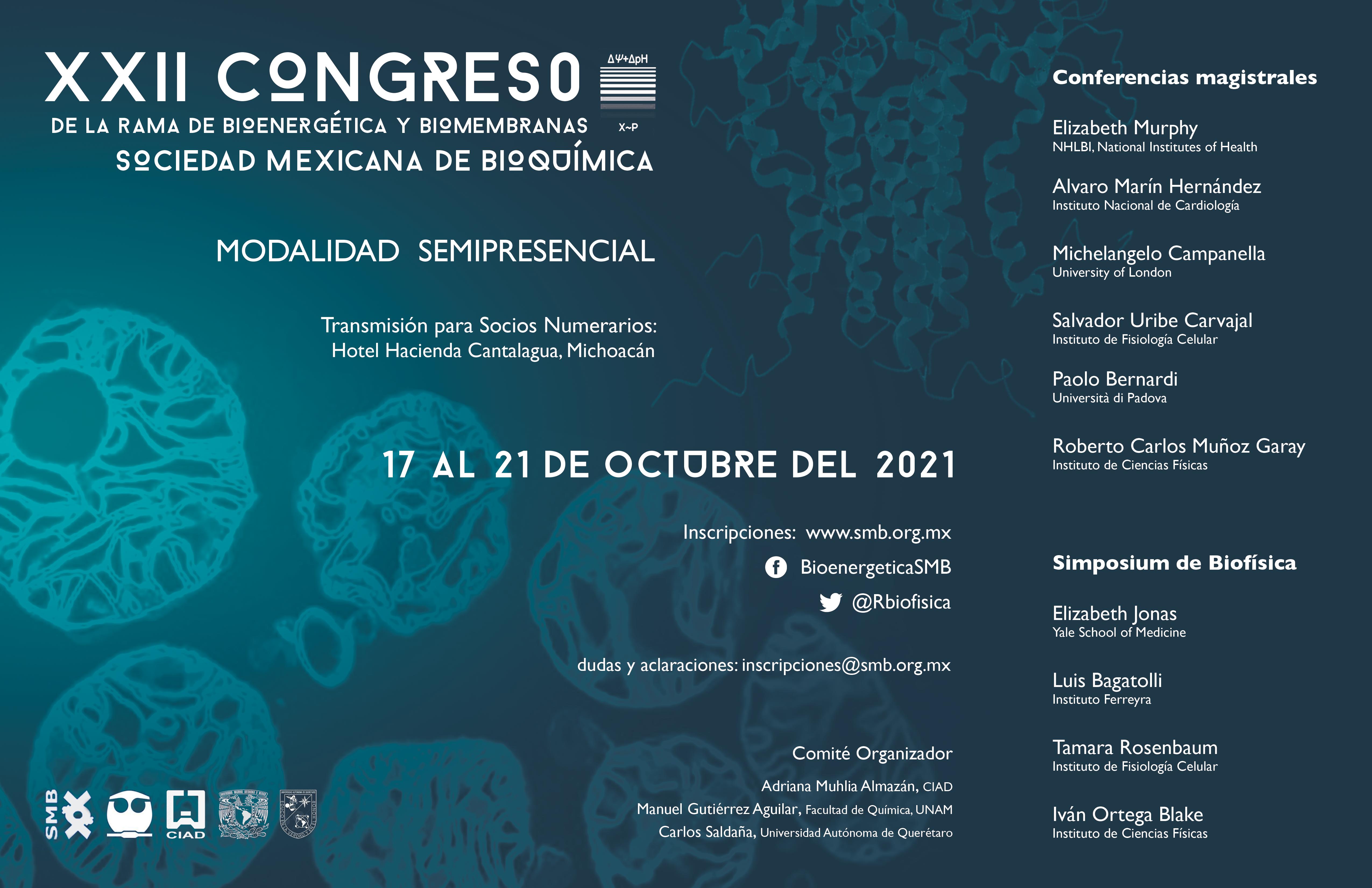 XXII Congreso de la Rama de Bioenergética y Biomembranas